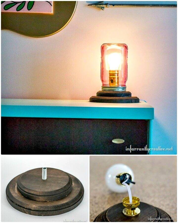 DIY Mason Jar Table Lamp Tutorial