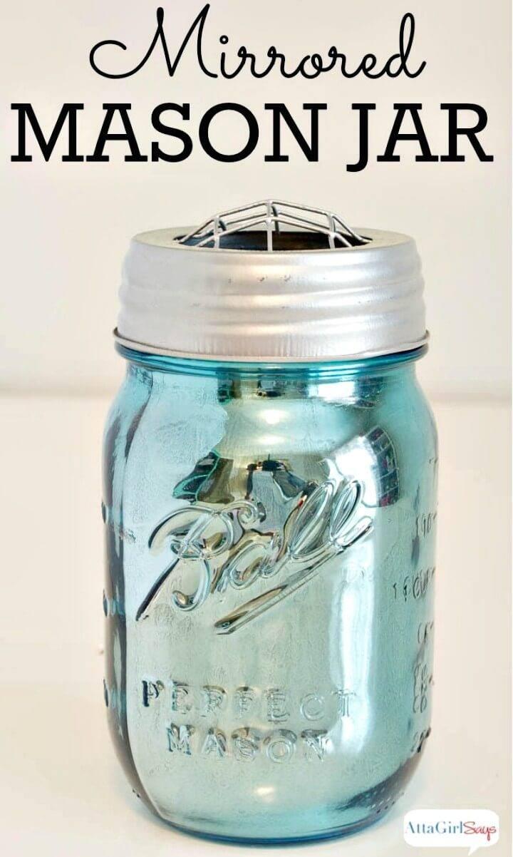 DIY Mirrored Mercury Glass Mason Jars - Mason Jars Crafts