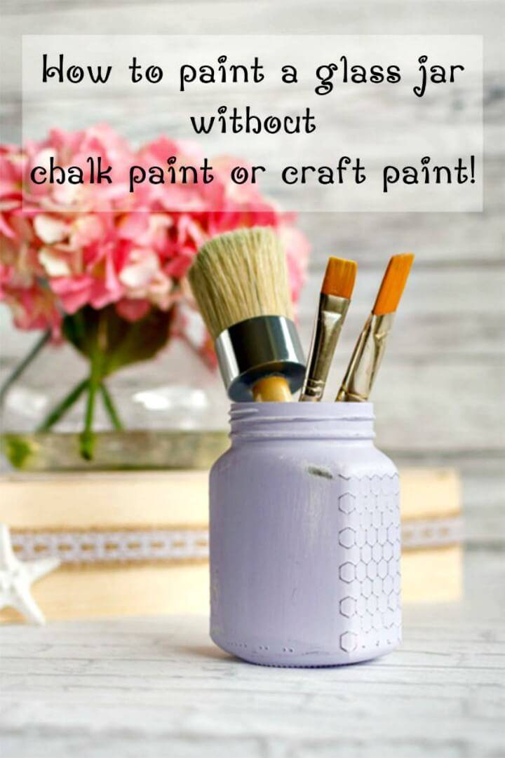 DIY Painted Cottage Chic Glass Jar - Mason Jars Crafts