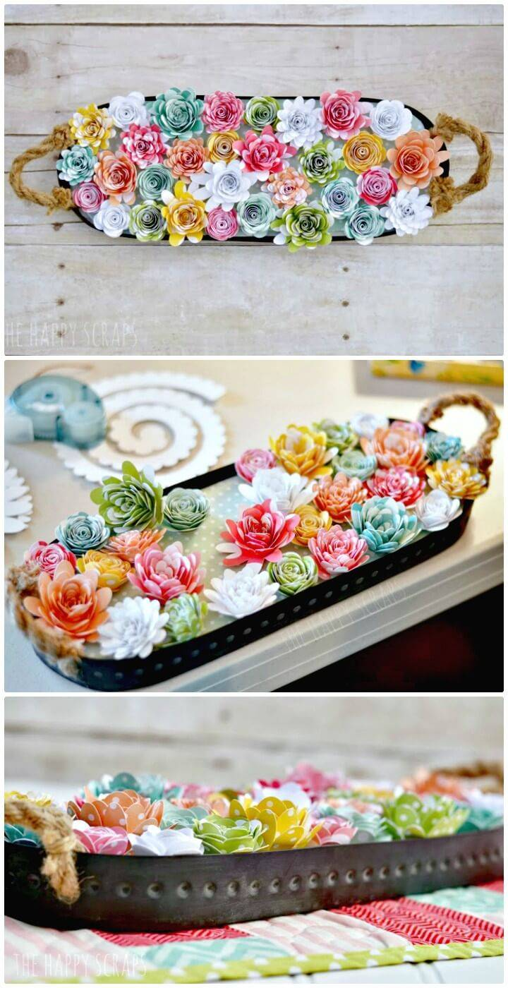 Beautiful DIY Paper Flower Spring Centerpiece