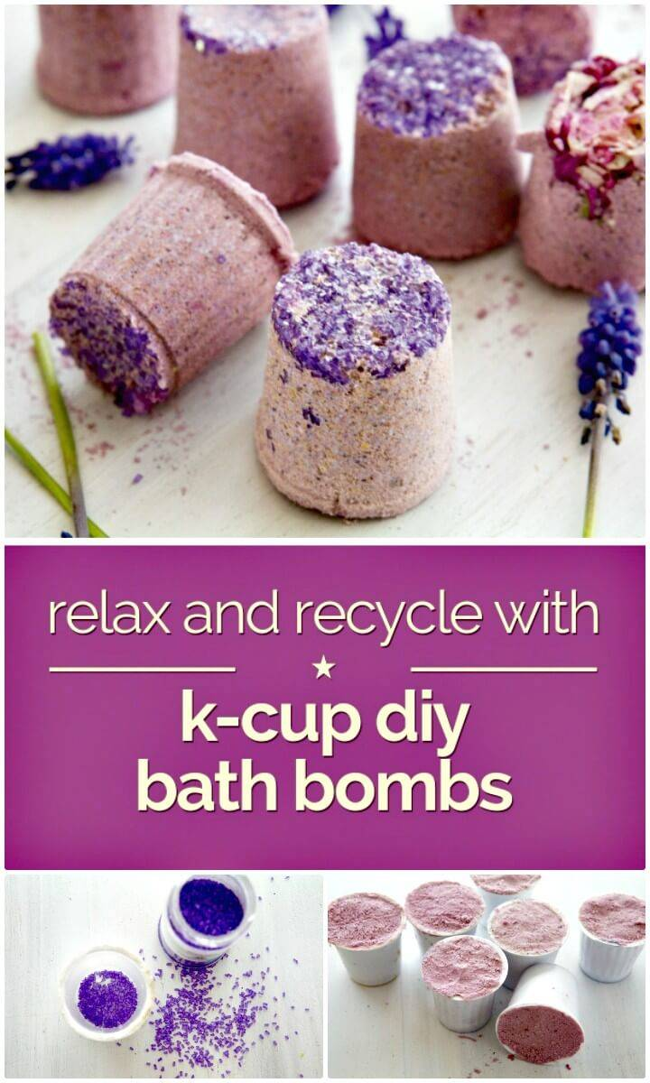 Easy DIY Relax and Recycle with K-Cup Bath Bombs Tutorial