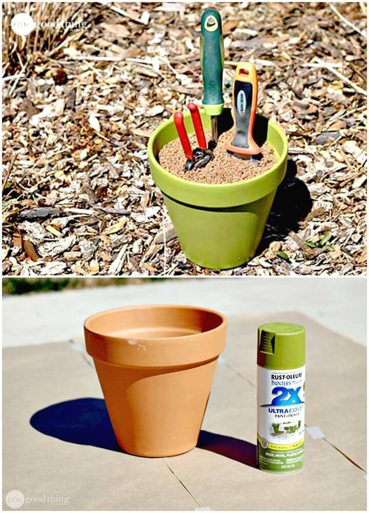 DIY Self-cleaning & Sharpening Garden Tool Holder