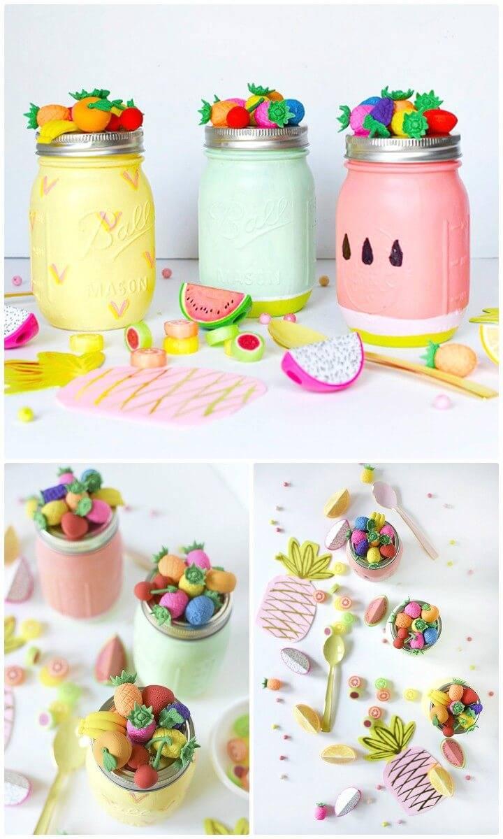 DIY Summer Fruit Mason Jar - Mason Jars Crafts