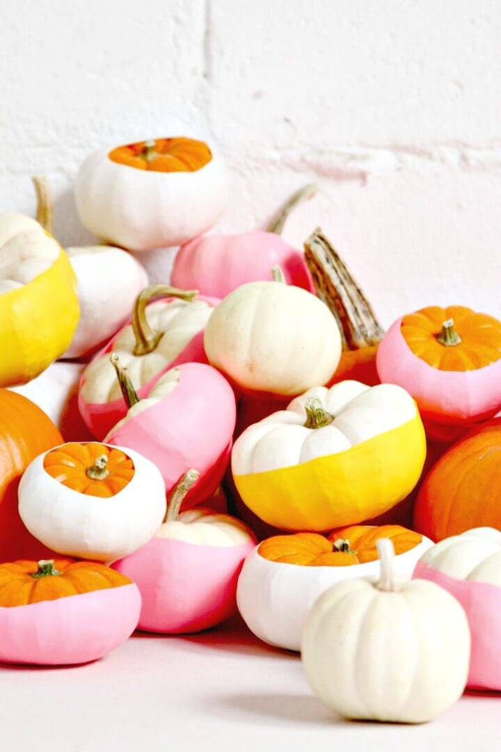 How To DIY Balloon Dipped Pumpkins for this Spring