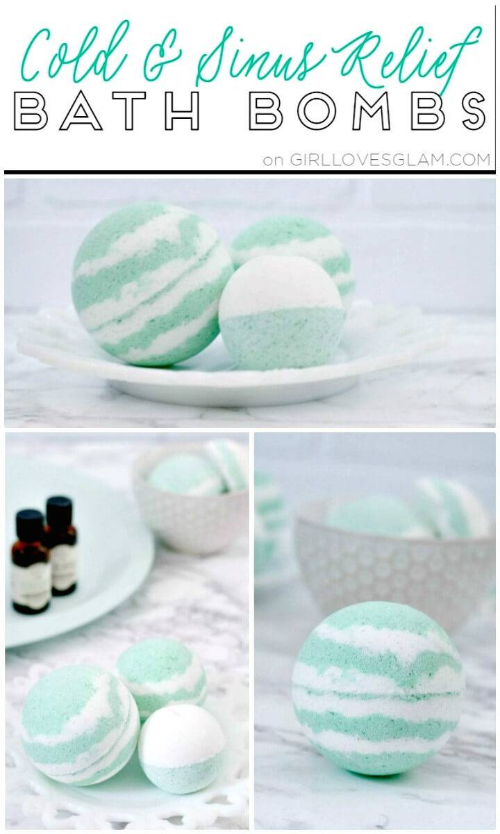 Easy How to DIY Bath Bombs For Colds And Sinus Relief