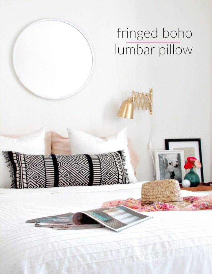 Make Your Own Boho Lumbar Pillow from a Table Runner