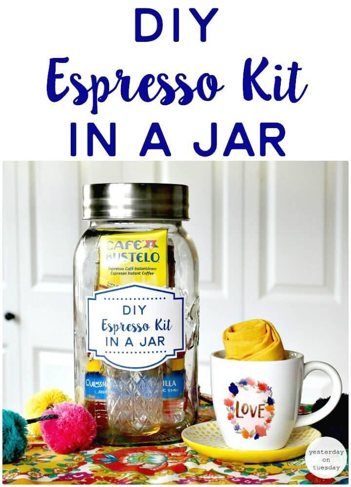 Easy DIY Espresso Kit in a Jar - Mason Jars Crafts