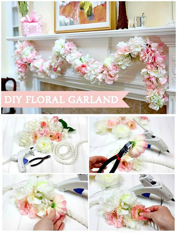 How to DIY Spring Floral Garland and a Savory Treat