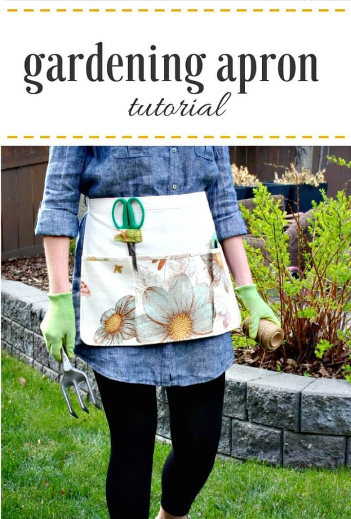 Beautiful and Functional DIY Gardening Apron for Your Mom