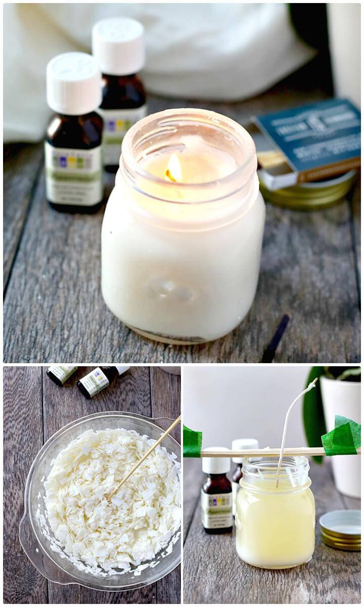 Easy DIY Homemade Aromatherapy Candles In A Jar - Mason Jars Crafts