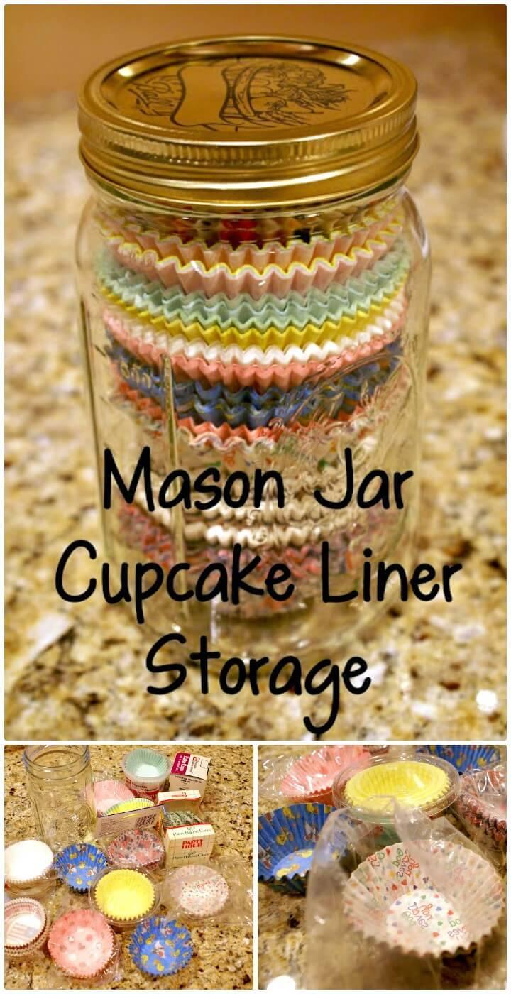 DIY Mason Jar Monday - Cupcake Liner Storage Tutorial