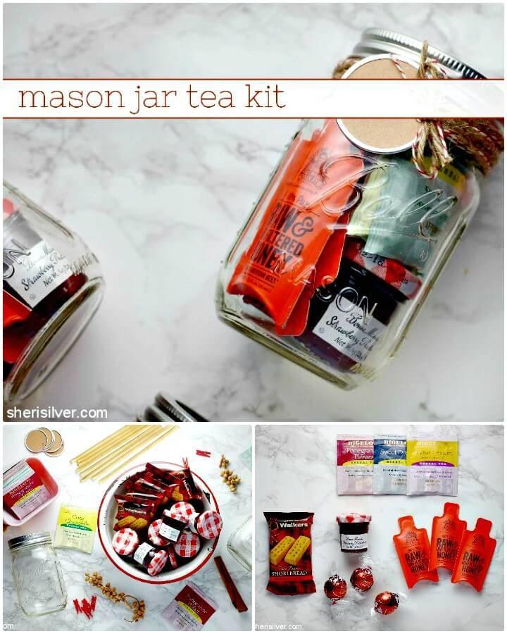 How to DIY Mason Jar Tea Kit - Holiday Gift