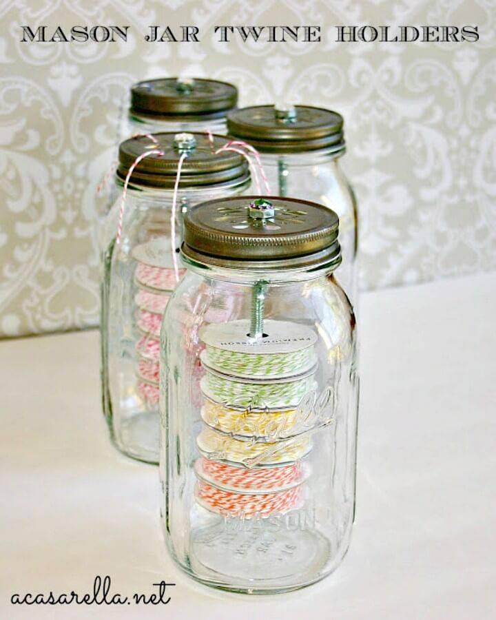 DIY Mason Jar Twine Holders for Spring & Summer