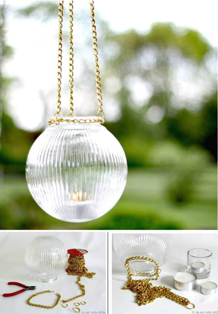 Easy DIY Outdoor Glass Hanging Lights