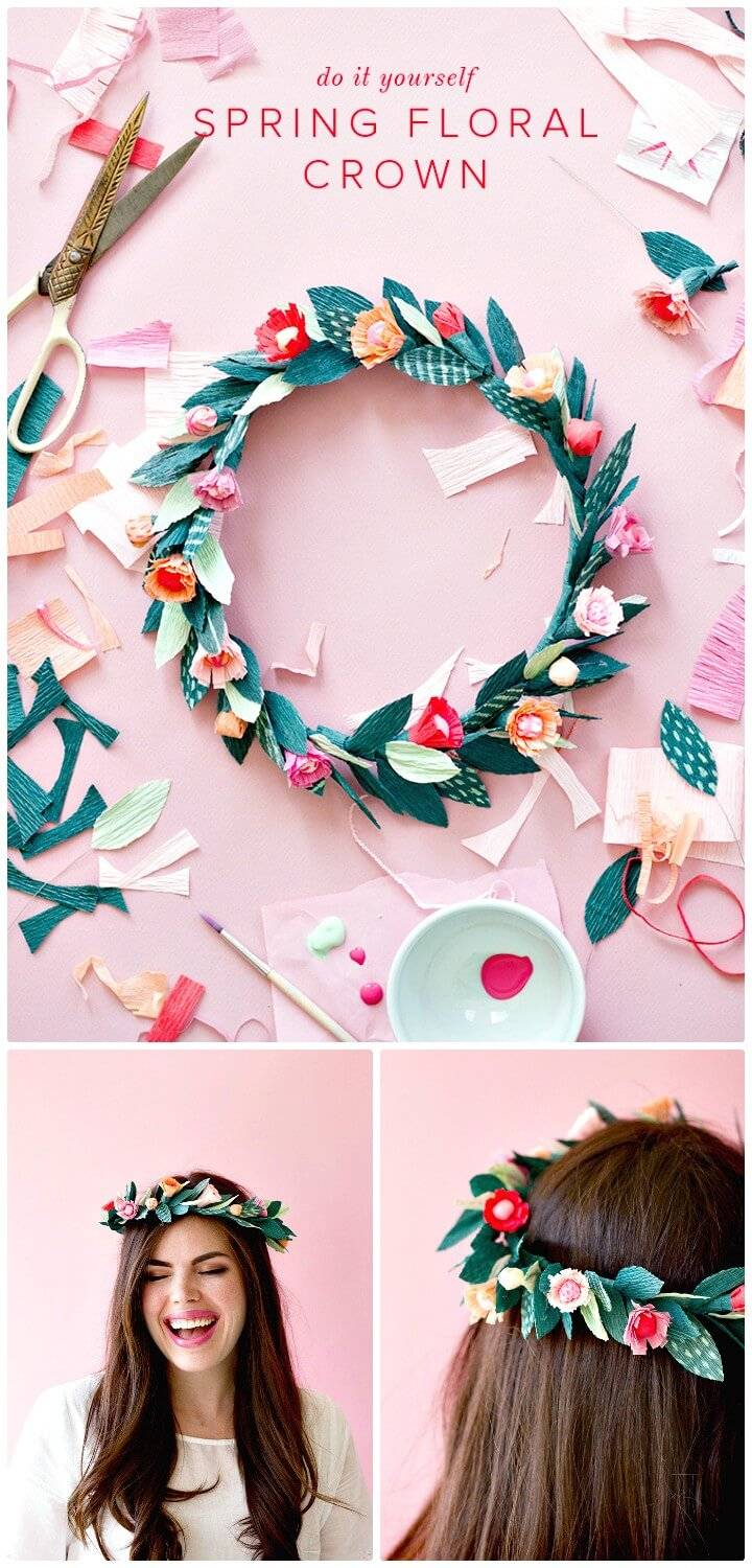Make Your Own Paper Spring Floral Crown