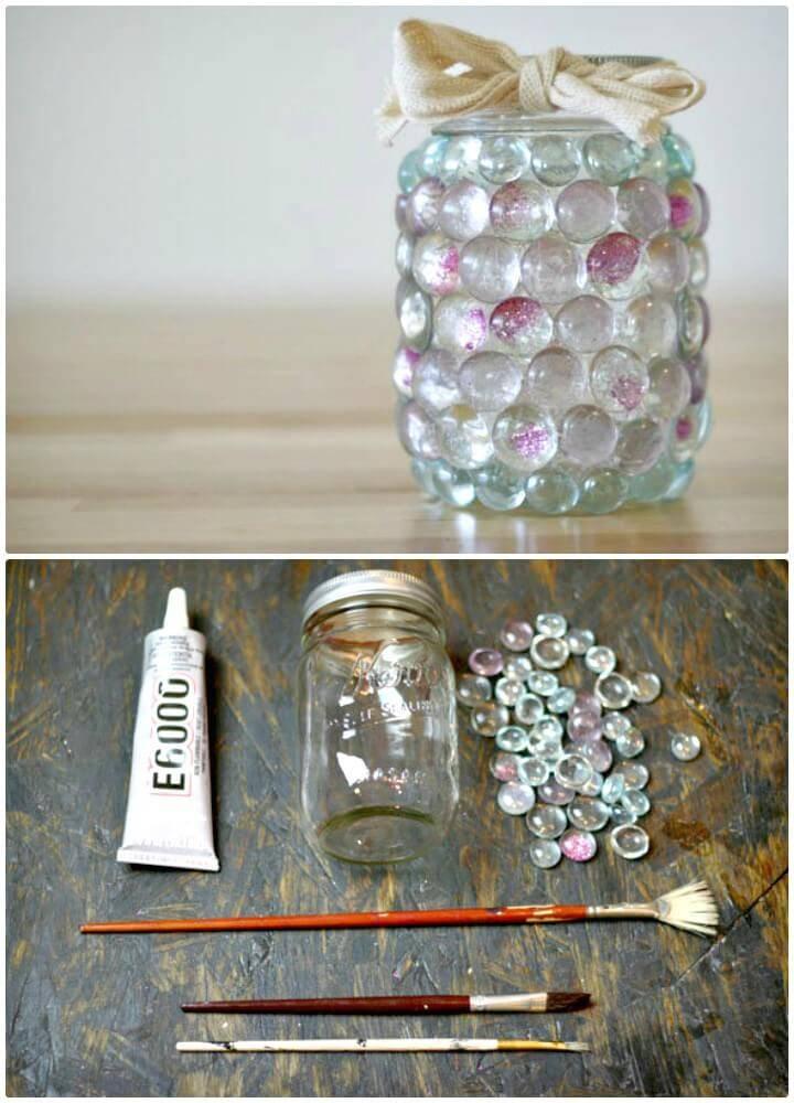How to DIY Prism Mason Jar Light