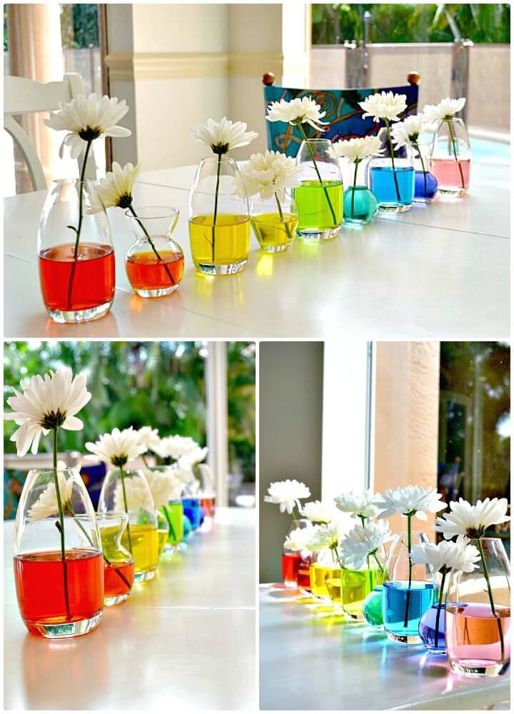 How to DIY Rainbow Centerpiece Tutorial