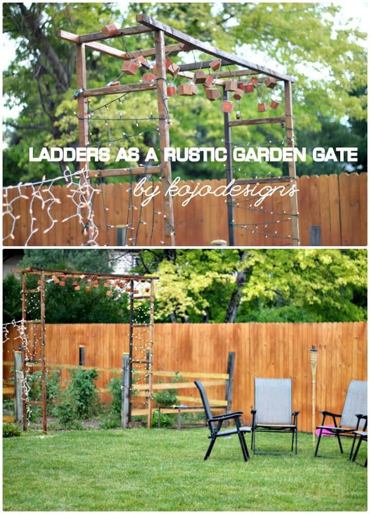 Easy DIY Rustic Garden Gate