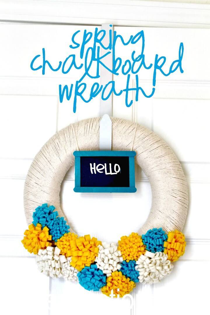 How to Make Your Own Spring Chalkboard Wreath Tutorial