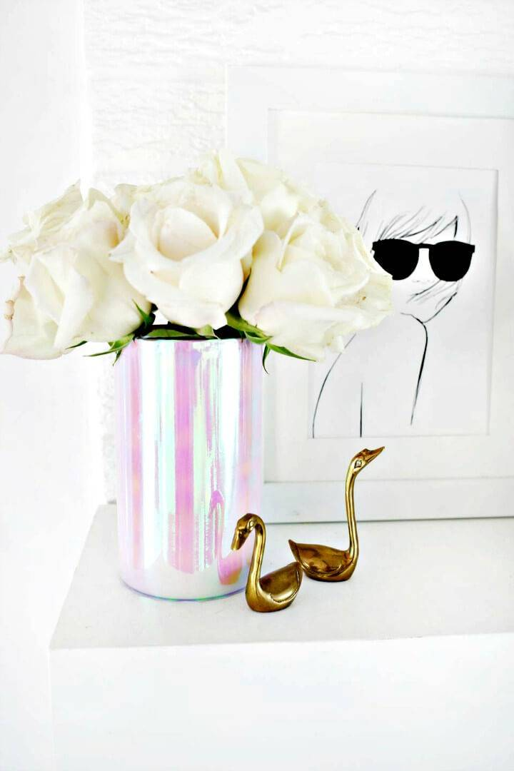 How to DIY Spring Holographic Vase Tutorial