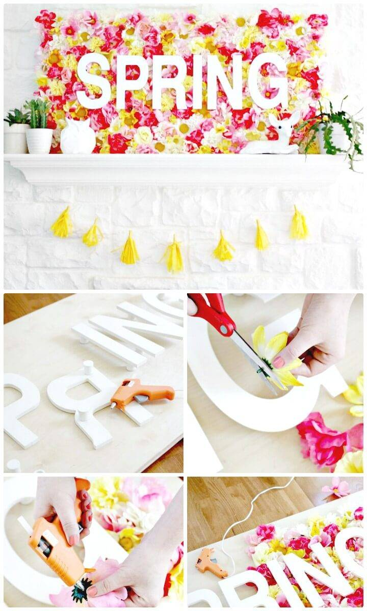 How to DIY Spring Wallflowers Sign Tutorial
