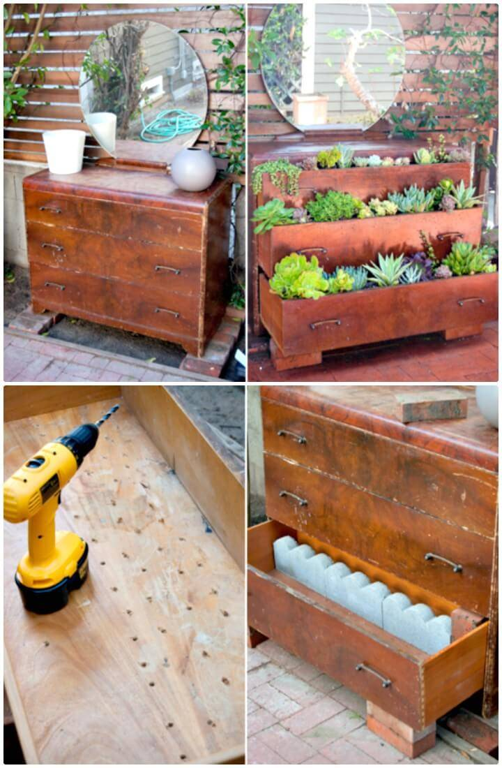 How To Re-Purpose A Dresser Into A Home Garden - DIY