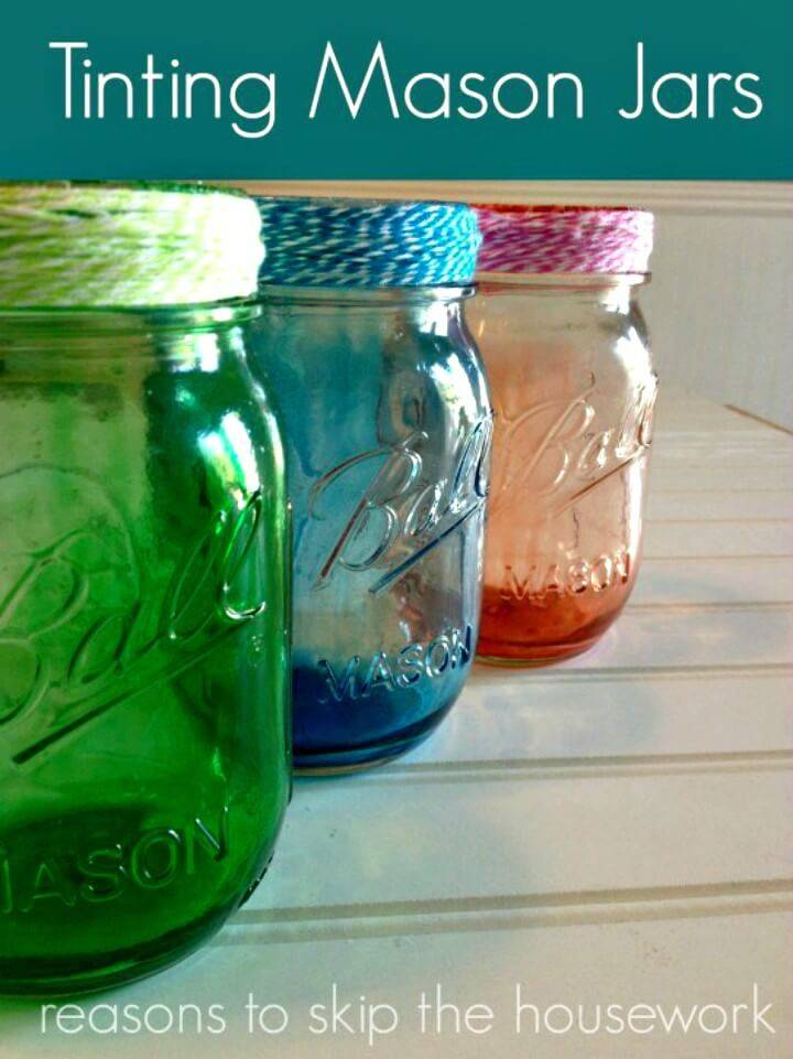 Easy To Make Tint Mason Jars for Spring & Summer