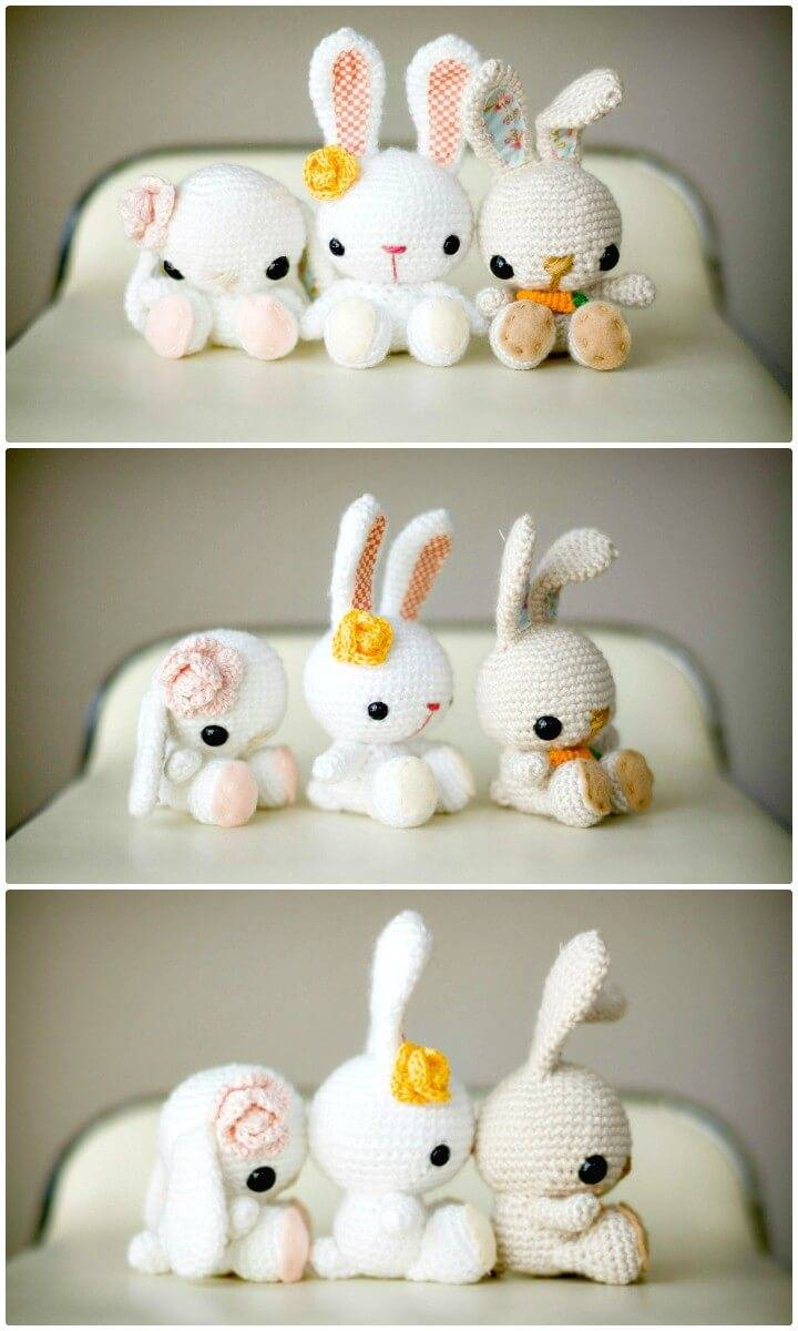Easy Free Crochet Spring Bunnies Pattern