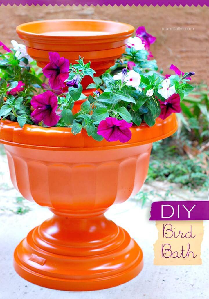 How Build a Garden Bird Bath - DIY