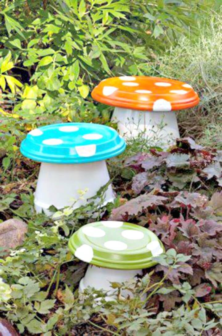 How To Build Garden Mushrooms - DIY