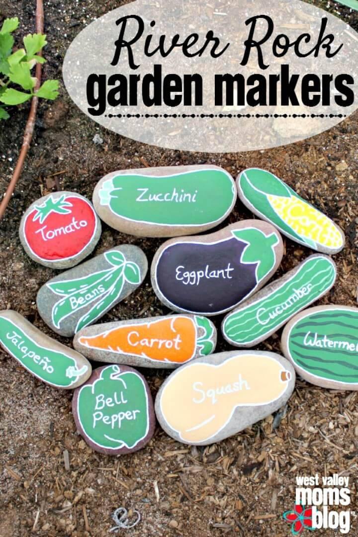 How To Build River Rock Garden Markers - DIY