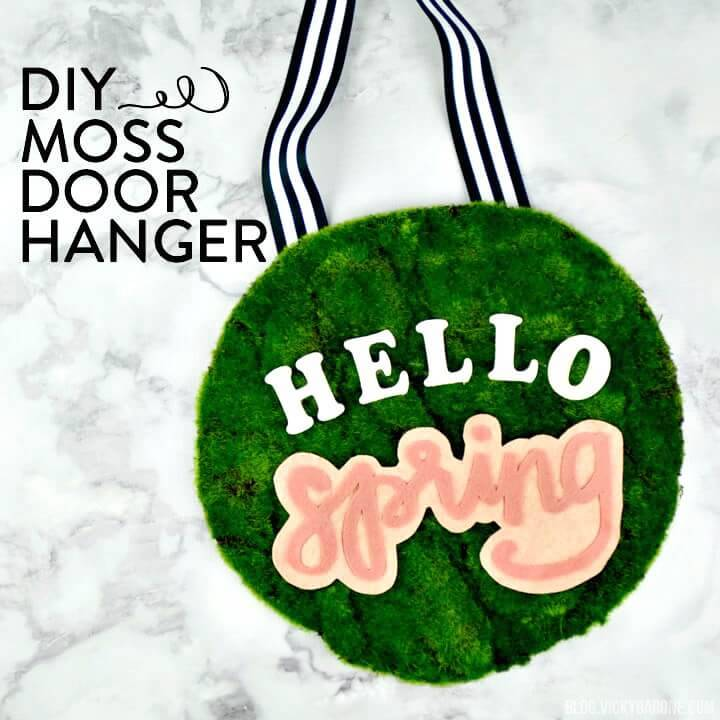 Easy How To Create Moss Door Hanger - Hello Spring