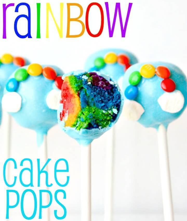 Easy DIY Rainbow Cake Pops Tutorial