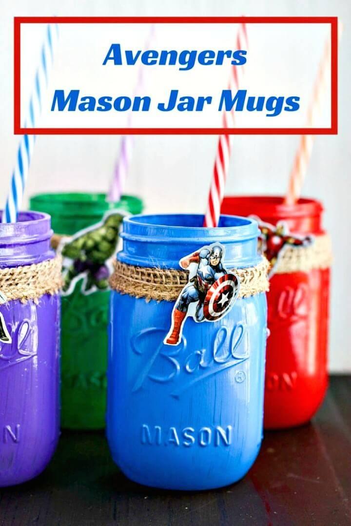 How To DIY Avengers Mason Jar Mugs