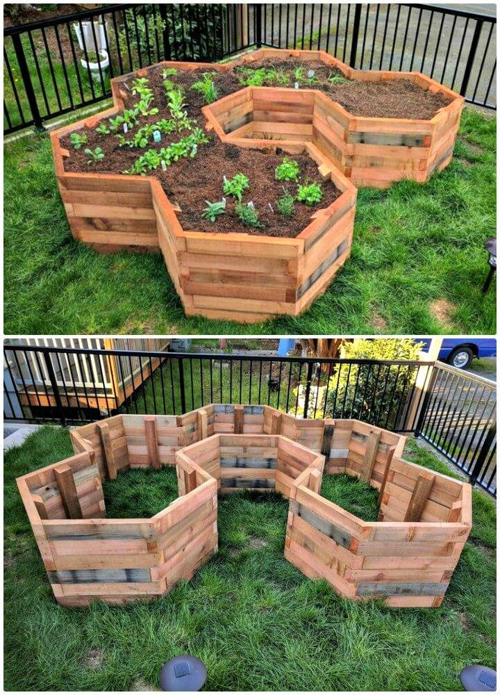Make Your Own Hexagonal Garden Beds - DIY
