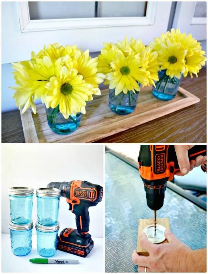 How To DIY Mason Jar Centerpieces