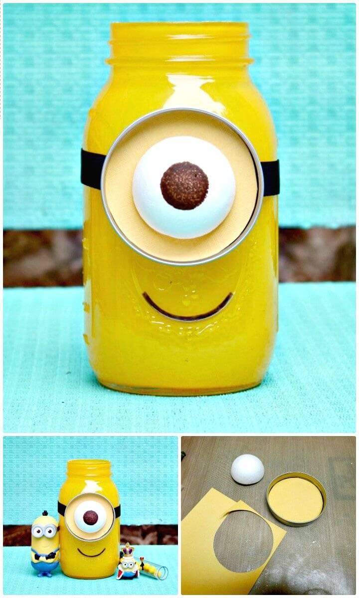 How To DIY Minion Mason Jar Gift