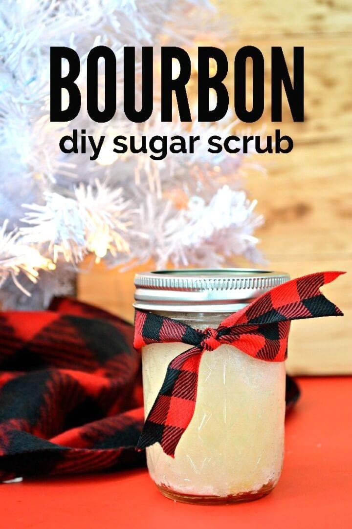 How To Make Bourbon Sugar Scrub - DIY Mason Jar Gift For Men