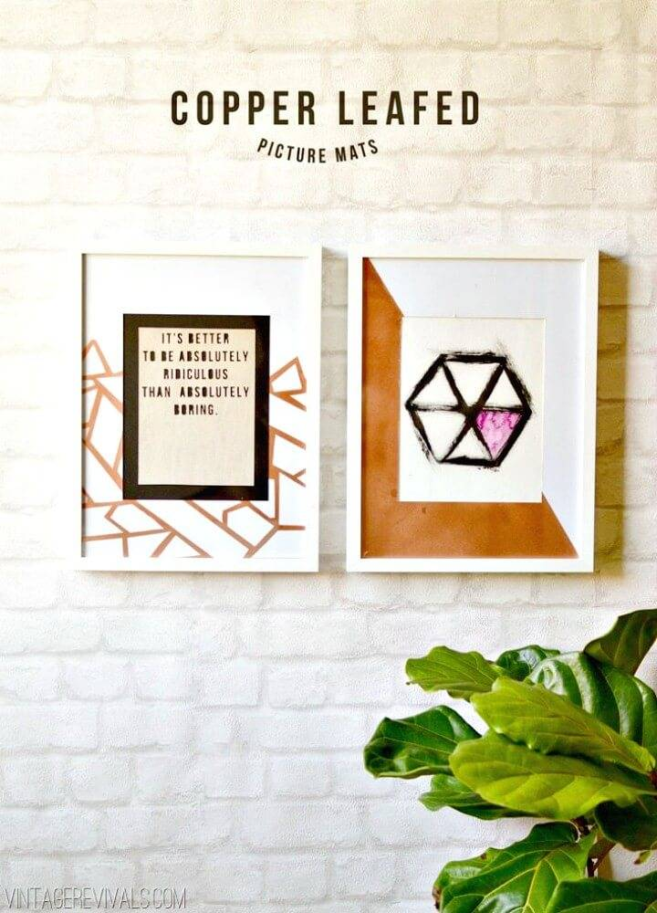 Beautiful How To Make Copper Geometric Picture Mats & Hexagon Art