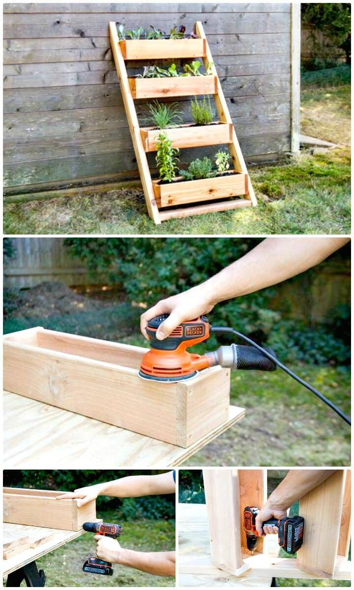 How To Make Garden Cedar Ladder Planter