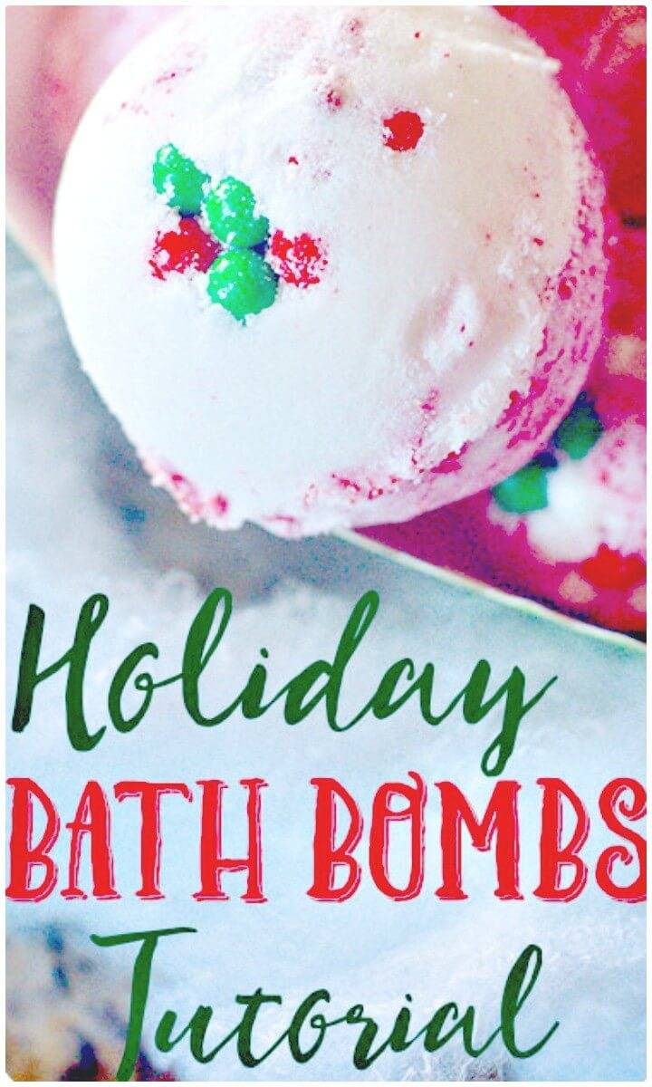 Beautiful How To Make Holiday Bath Bombs - Handmade Gift Idea