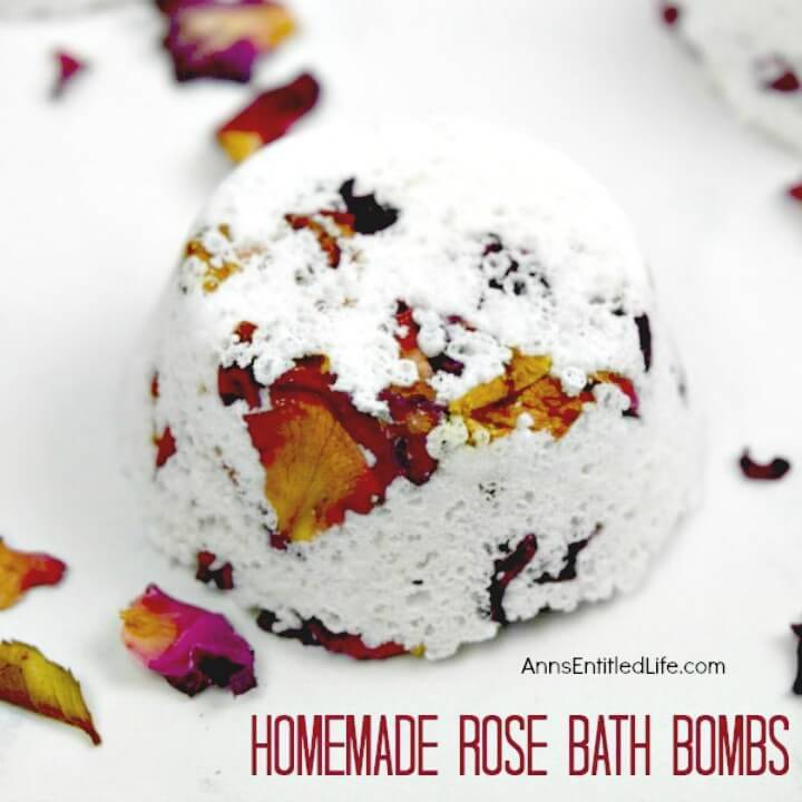 How To Make Homemade Rose Bath Bombs - Recipe