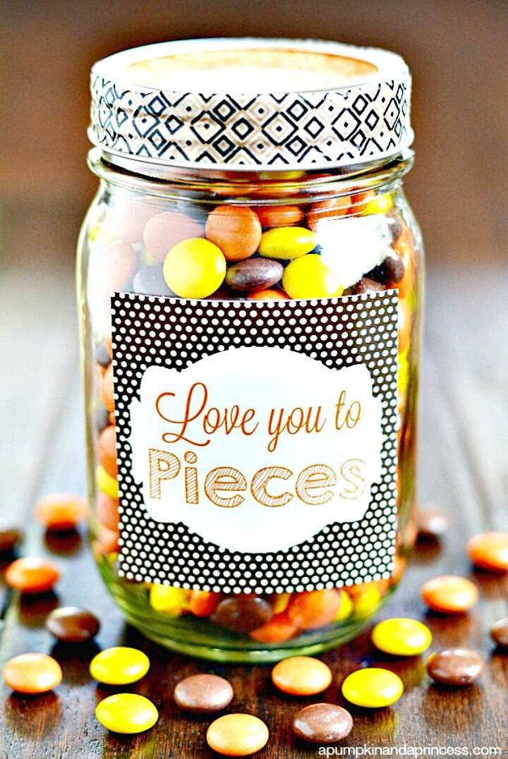 How To Make Love You To Pieces Printable - Father's Day Gift - DIY Mason Jars Crafts