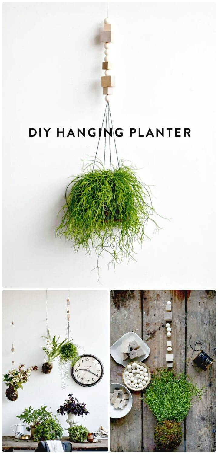 Simple How To Make Spring Hanging Planter