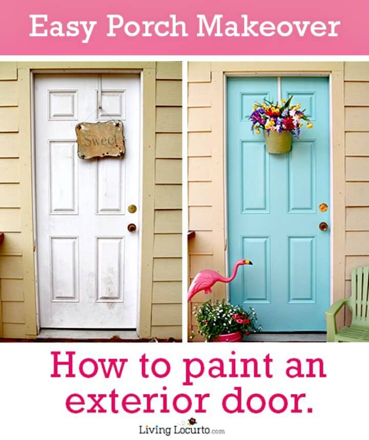 DIY Paint An Exterior Door Tutorial