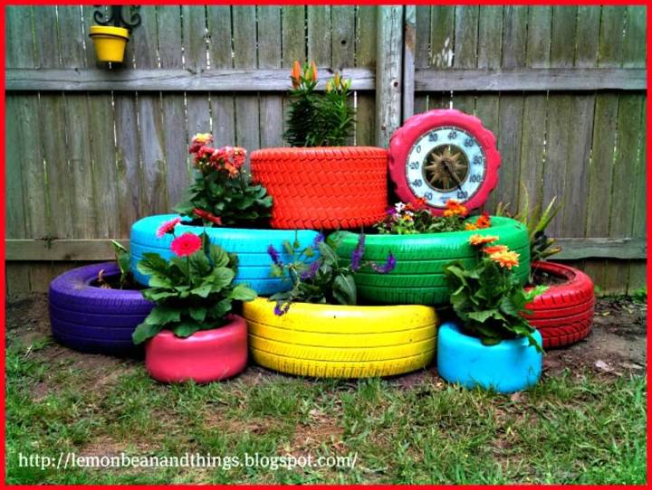 How To Recycle Tire Planter Under $80.00 - DIY