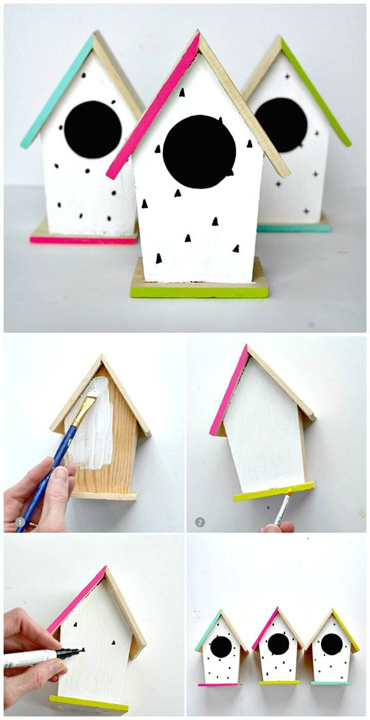Beautiful DIY Spring Hand-Painted Birdhouse