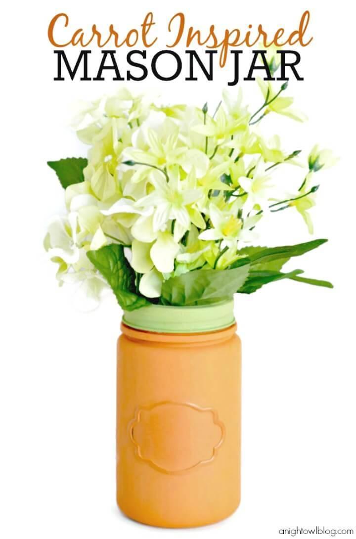 How to Make Carrot Inspired Mason Jars - DIY Mason Jars Crafts