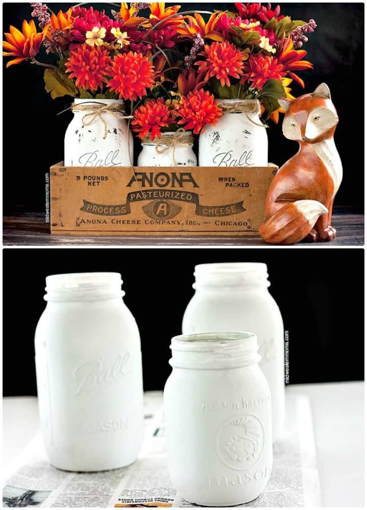 How to DIY Mason Jar Centerpiece For Fall - Mason Jars Crafts
