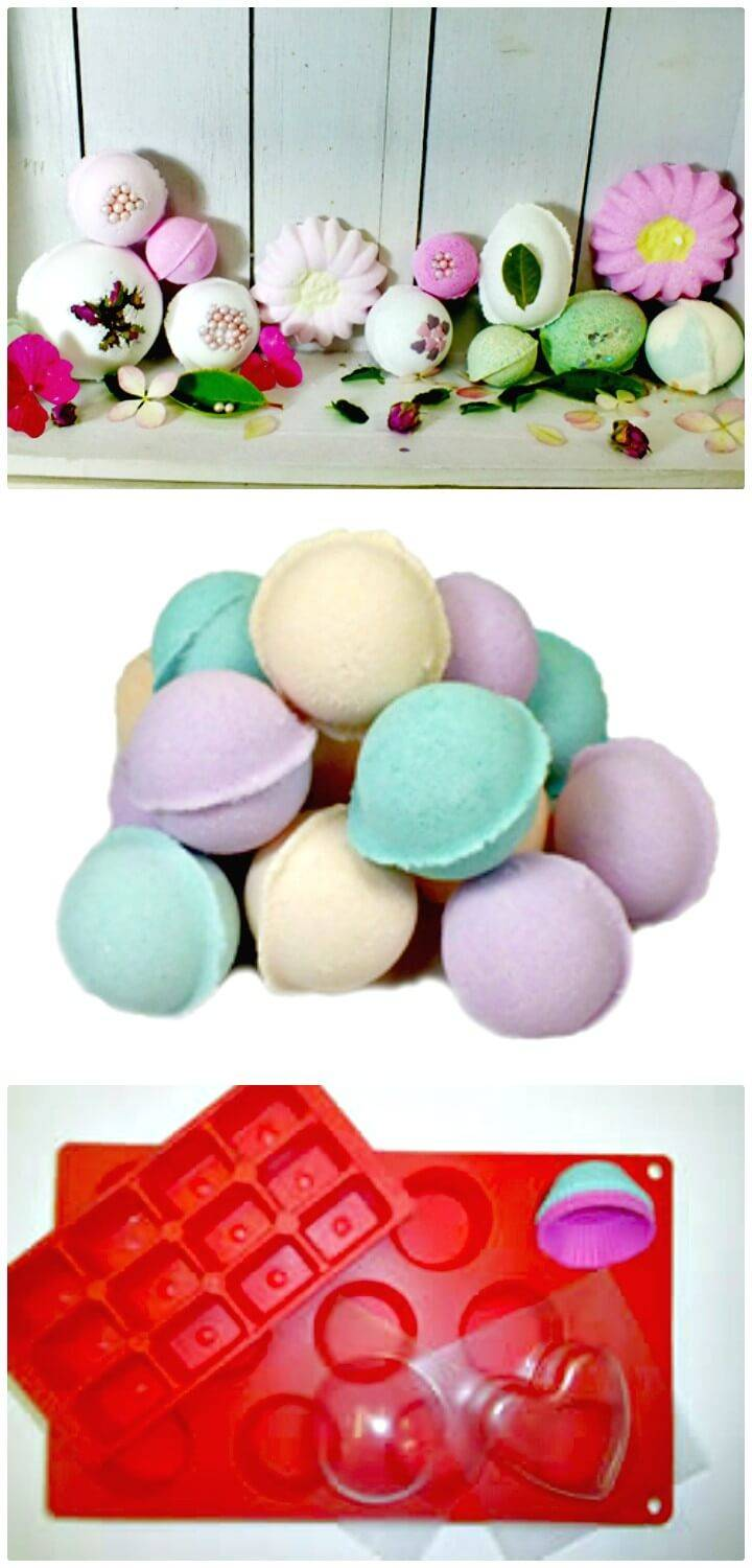 Beautiful How to Make Your Own Bath Bombs - Homemade Gift Idea